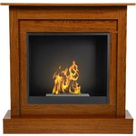 Ethanol fireplaces with mantel