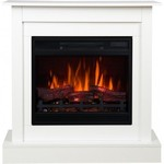 Electric fireplaces with mantel